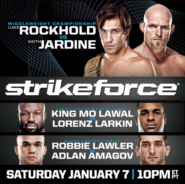 Strikeforce Rockhold vs Jardine Poster