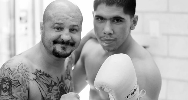 Johnny Tapia (left) was training up and coming boxers like Josh Torres (right)