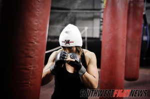 Monica Lovato Training for upcoming fight