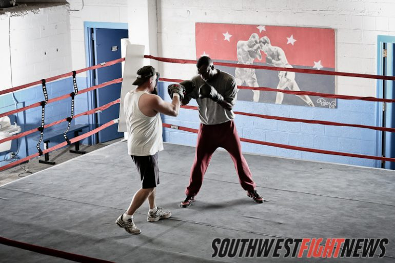 WBA Champ Austin Trout and Trainer Louie Burke