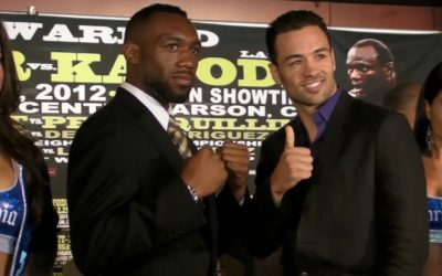 Austin Trout and Delvin Rodriguez pose for photo