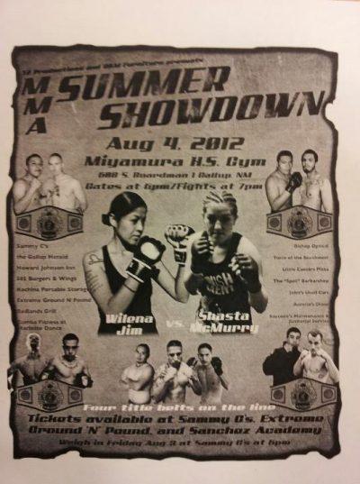 MMA Summer Showdown Fight Poster