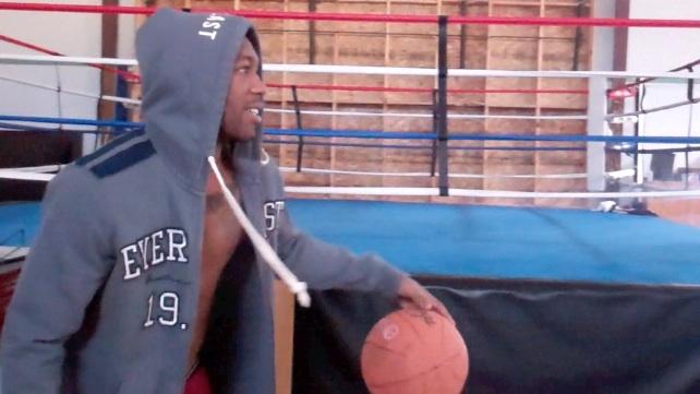 Austin Trout Playing Basketball