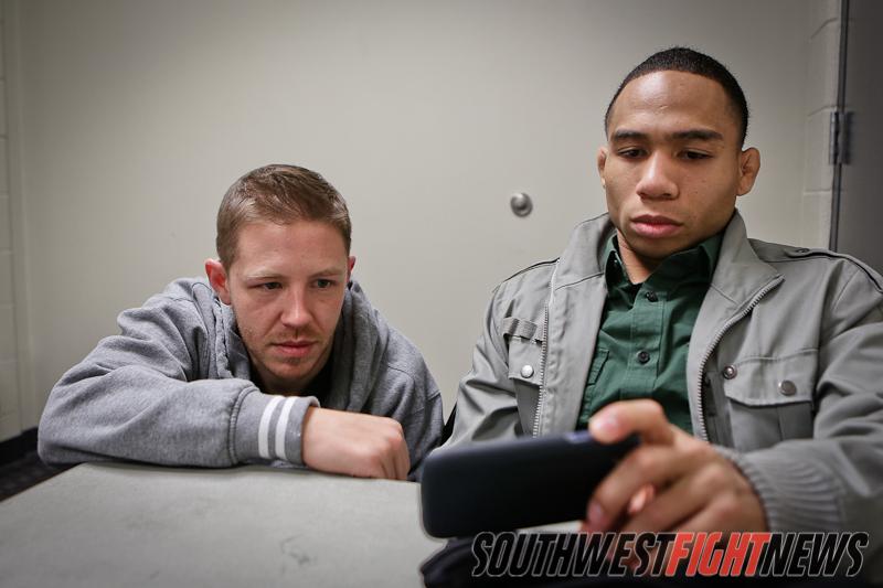 Coach Gibson and John Dodson