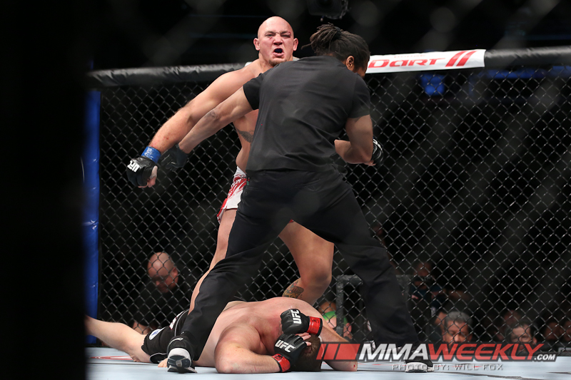 Chicago, IL - Jan 26, 2013:  Mike Russow and Shawn Jordan at UFC