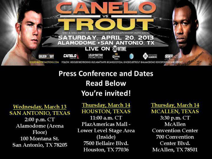 Trout vs Canelo Tour