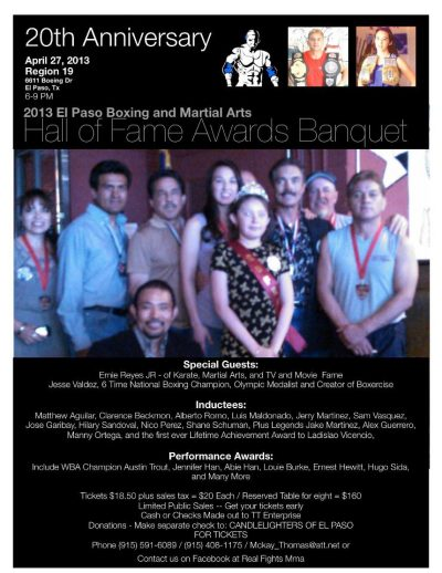 2013 El Paso Boxing Hall of Fame