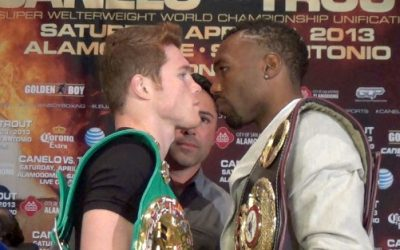 Canelo Alvarez and Austin Trout