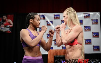 Holly Holm vs Mary McGee Staredown