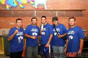 Joe Gomez and his team pose for a photo after his war with Josh Torres last July.
