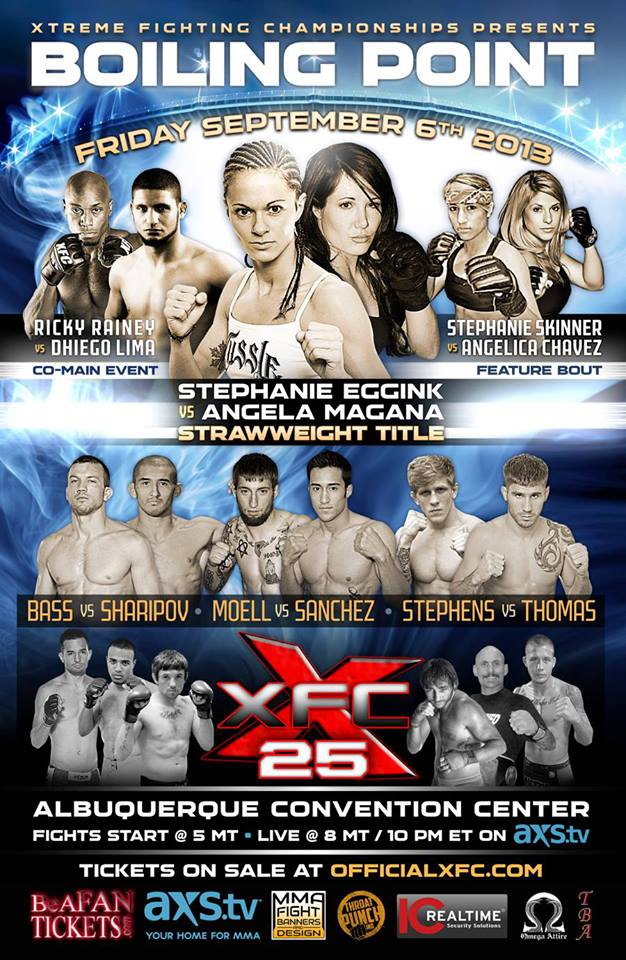 XFC 25 Fight poster