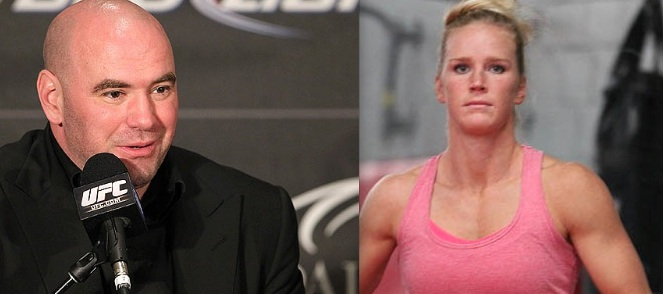 Dana White Holly Holm in UFC