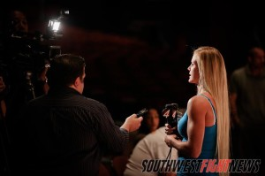Holm will be in the spotlight Friday night as she headlines another event in her hometown of Albuquerque, New Mexico.