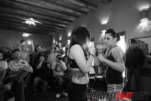 "Photos from the King of the Cage ""Rumble"" Weigh-in at Sadie's of New Mexico."