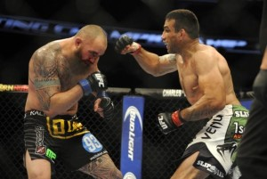 Despite a strong first round, Travis Browne would never find his rhythm and opponent Fabricio Werdum would win a Unanimous Decision and earn the right to called the UFC Heavyweight Number One Contender.  Photo Credit: David Manning / USA TODAY Sports / via MMA Junkie