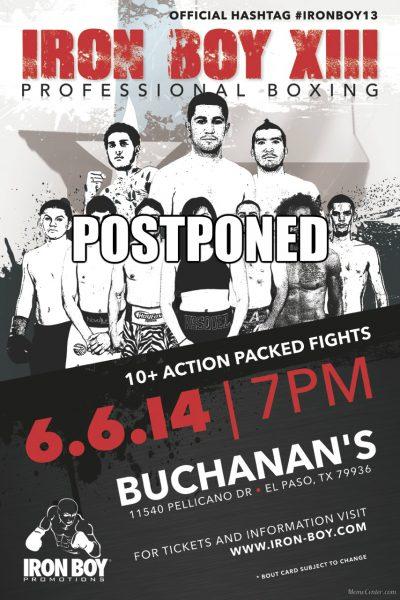 Iron Boy XIII Postponed