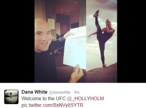 Holly Holm signs with UFC