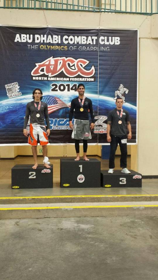 "Rich ""The Switch"" Chavez stands atop the first place podium at his ADCC Regional Qualifier in North Carolina."