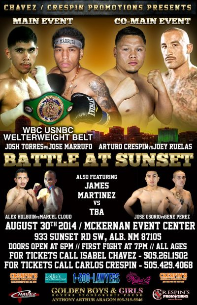 Josh Torres Fight Poster
