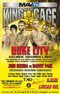 """King of the Cage """"Duke City"""""""