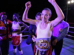 Jennifer Han IBF Featherweight champion